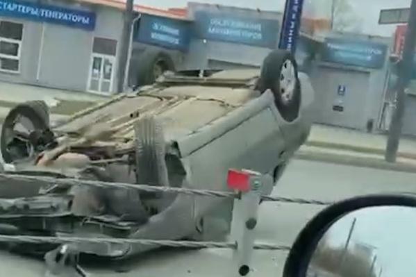 Авария произошла около полудня