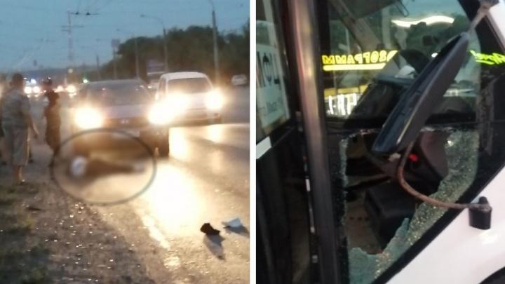 На Лукашевича маршрутка № 54 насмерть сбила парня на переходе