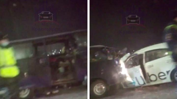 Пьяный водитель ехал по встречке и столкнулся с таксистом без прав