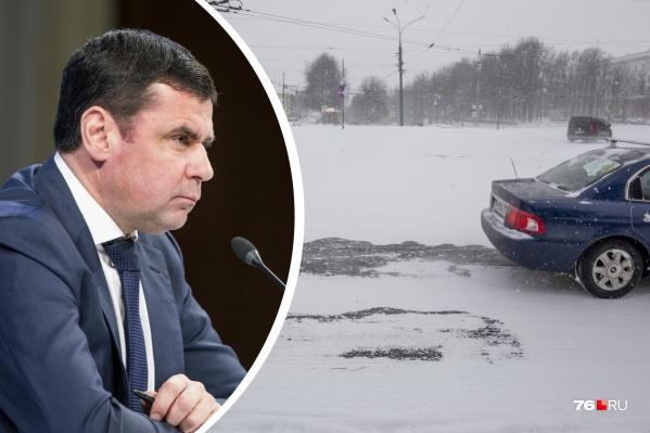 Плохая уборка дорог в Ярославле возмутила Дмитрия Миронова