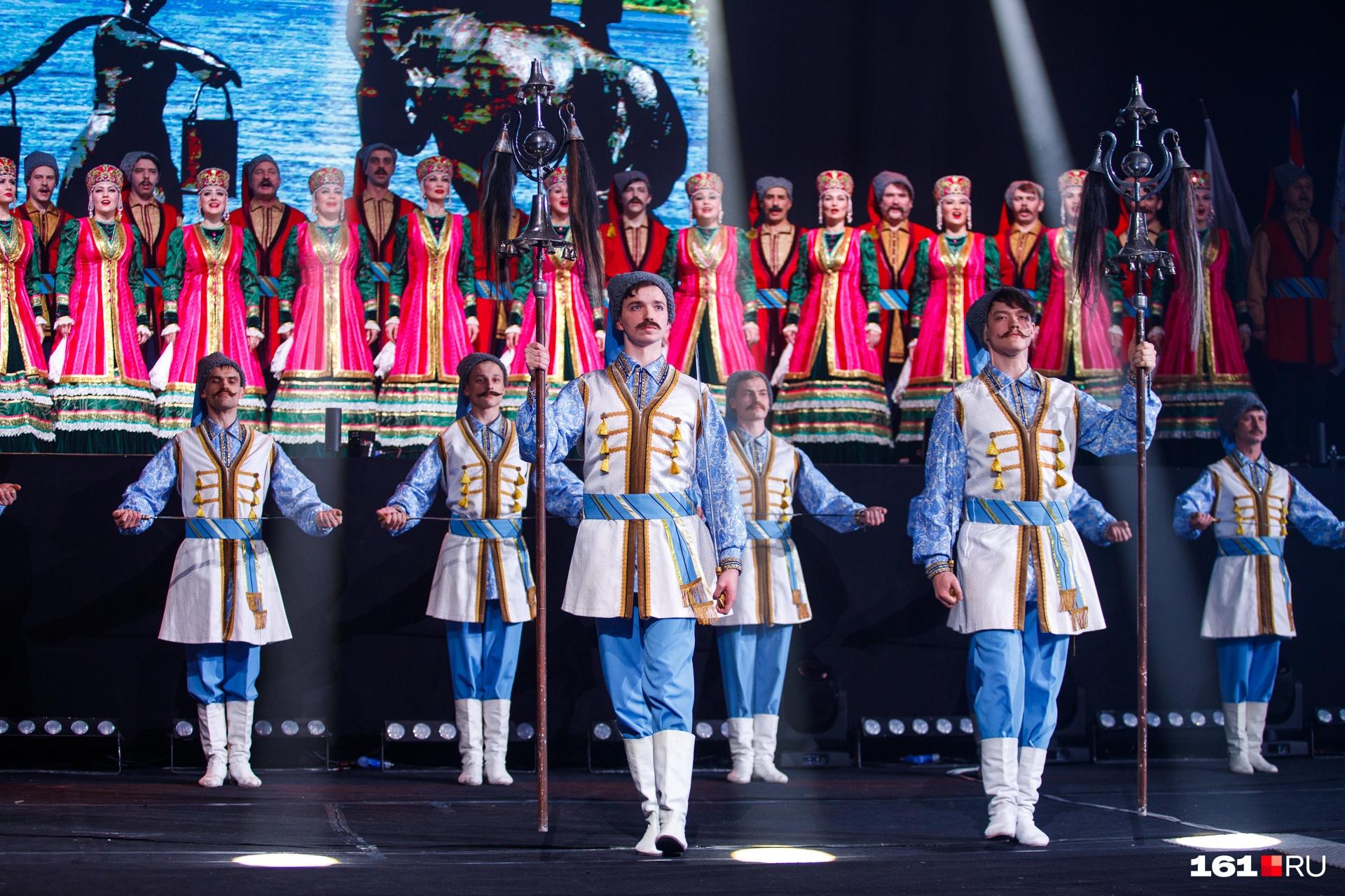 Церемония открытия соревнований. Без выступления казаков — никуда