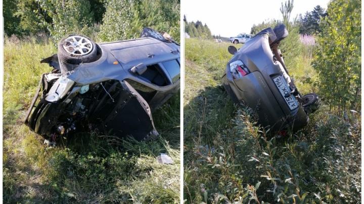 В Свердловской области сотрудники ГИБДД устроили аварию: видео с регистратора