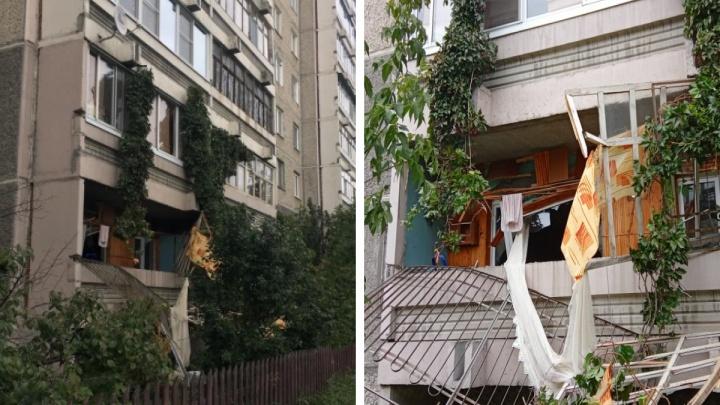 Жильцов дома на Уралмаше, где произошел взрыв, попросили не выходить на балкон