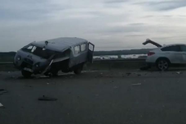 Машины столкнулисьна территории Красноярского района