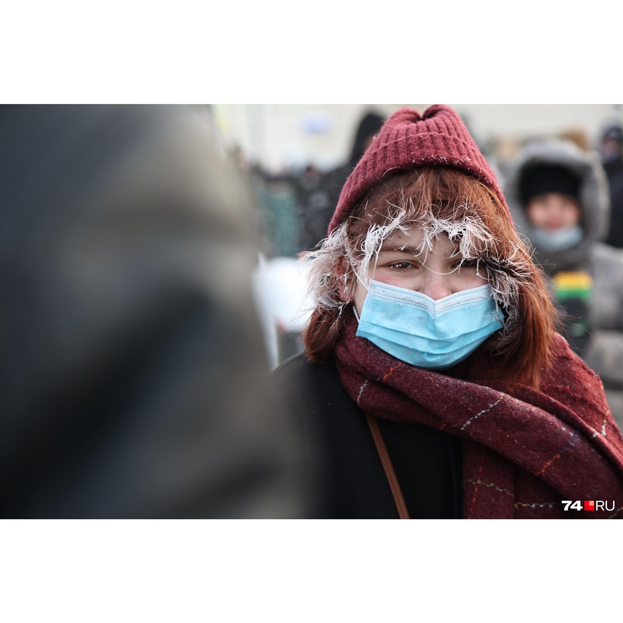 Всё-таки сегодня очень холодно на улице