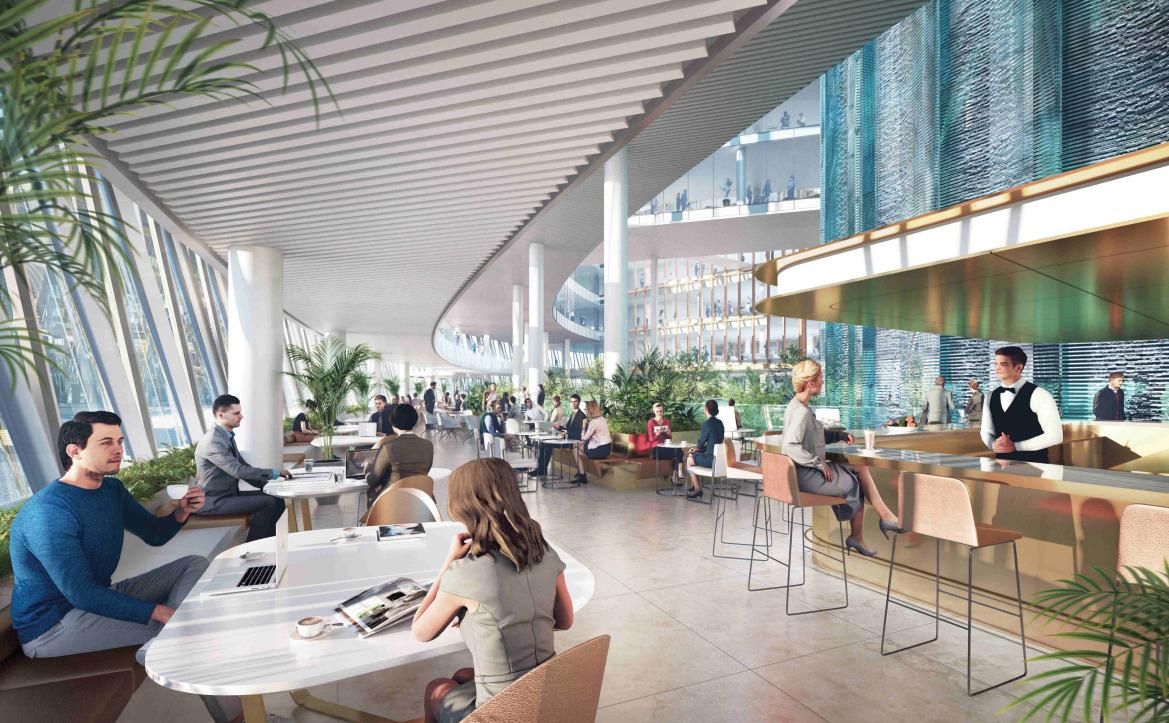 Общедоступные кафе на 2 этаже комплекса