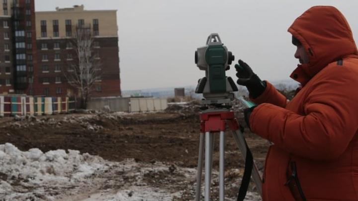 У антенного поля в Академгородке началось строительство детского сада на 300детей