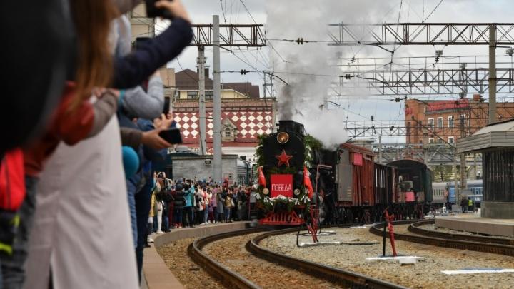 На тюменском вокзале остановится «Поезд Победы». Публикуем точное время прибытия