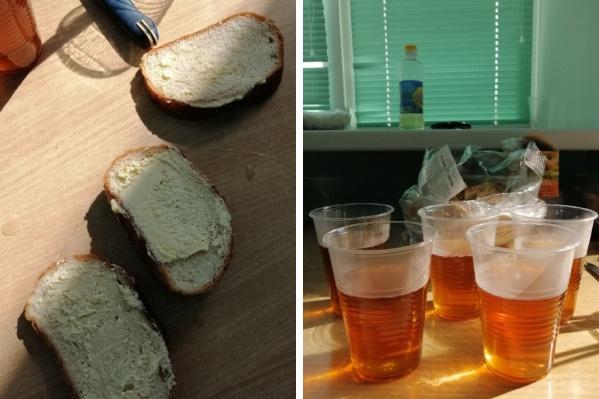 Хлеб с небольшими следами масла и неполные стаканы чая — вот на что обратили внимание пациенты 6-й городской больницы