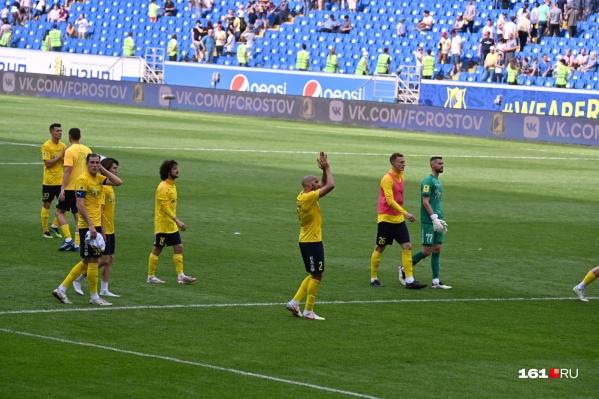 Ростов занял девятое место по итогам чемпионата