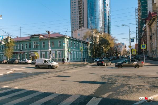 Под ограничение попал один из перекрестков на Вилоновской
