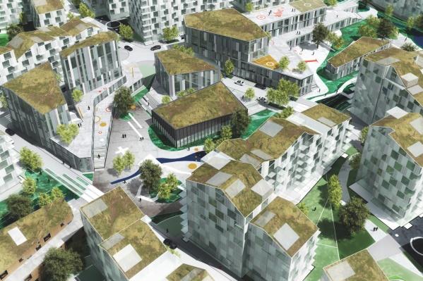 Особенностью проекта датских архитекторов стали зеленые крыши