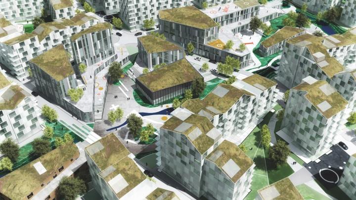 Представлены эскизы домов, которыми хотят застроить участок на Московском шоссе и Алма-Атинской
