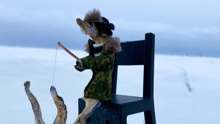 «Порода редкая, цена немалая». Жительница Северодвинска продала куклу из мойвы за 7500рублей