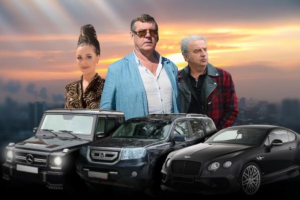 Изучаем автопарк уральских знаменитостей
