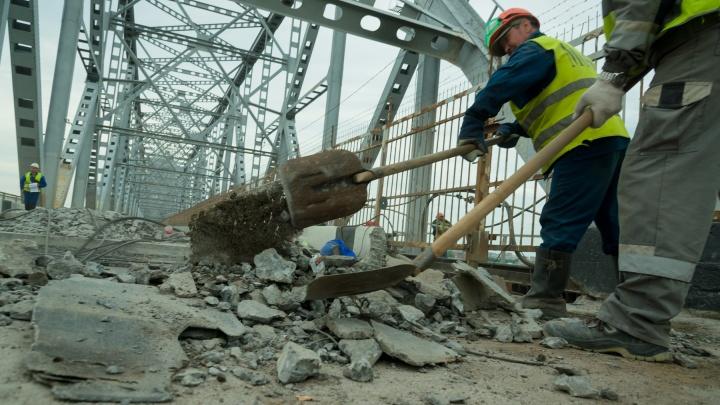 Что происходит на Северодвинском мосту, пока он закрыт на ремонт. Фоторепортаж 29.RU