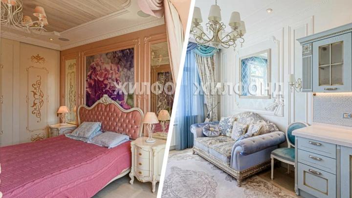 В центре Новосибирска продают элитную квартиру с тремя каминами и будуаром. Смотрим на жилье за 30 миллионов