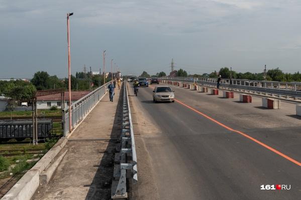 Мост открыли для легковых автомобилей 30 июля