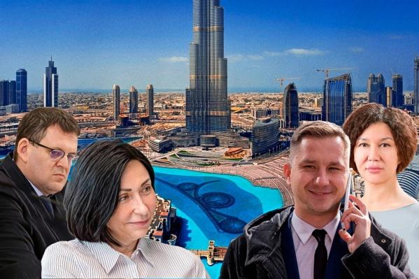 Владимир Шамне, Наталья Котова, Александр Егоров и Наталья Лугачёва (слева направо) провели в командировке в Дубае 8 дней
