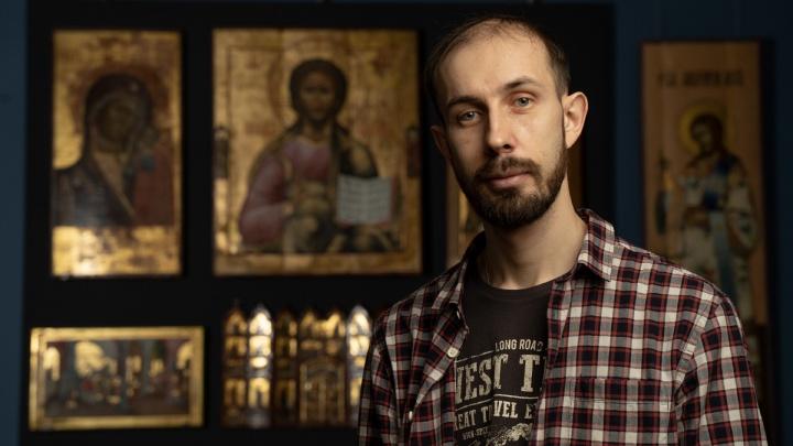 Спаси и сохрани: челябинский художник восстанавливает древние иконы стоимостью в миллионы рублей