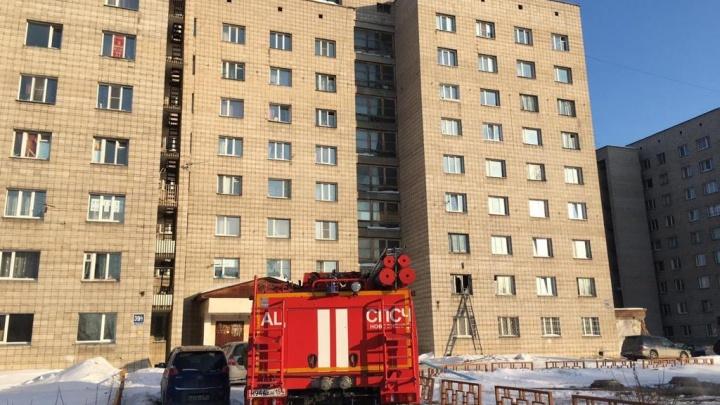 На Объединения загорелось общежитие — в пожаре погиб человек