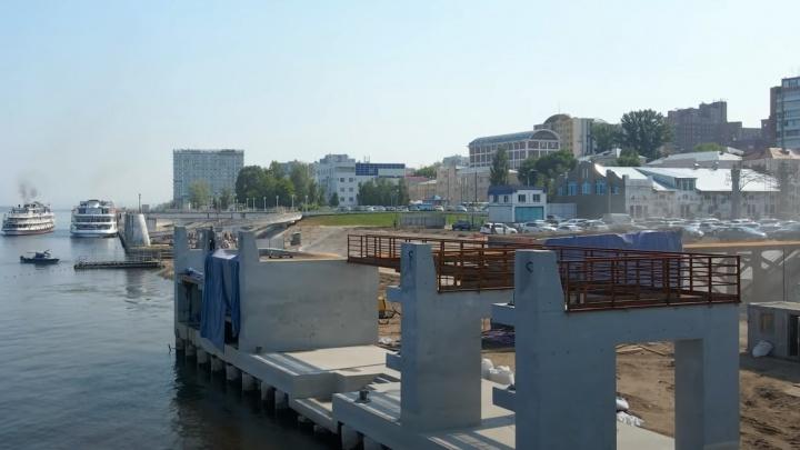 «Зачем столько бетона?»: на новом причале в Самаре начали возводить второй этаж