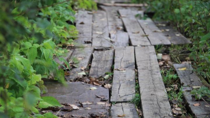 На десяти улицах в Соломбале отремонтируют деревянные тротуары: публикуем список