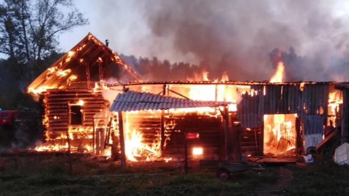«Подозреваем поджог»: в Челябинской области многодетная семья осталась без дома из-за пожара