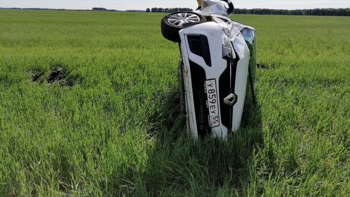 В Омском районе погибла пассажирка такси — машина вылетела в кювет