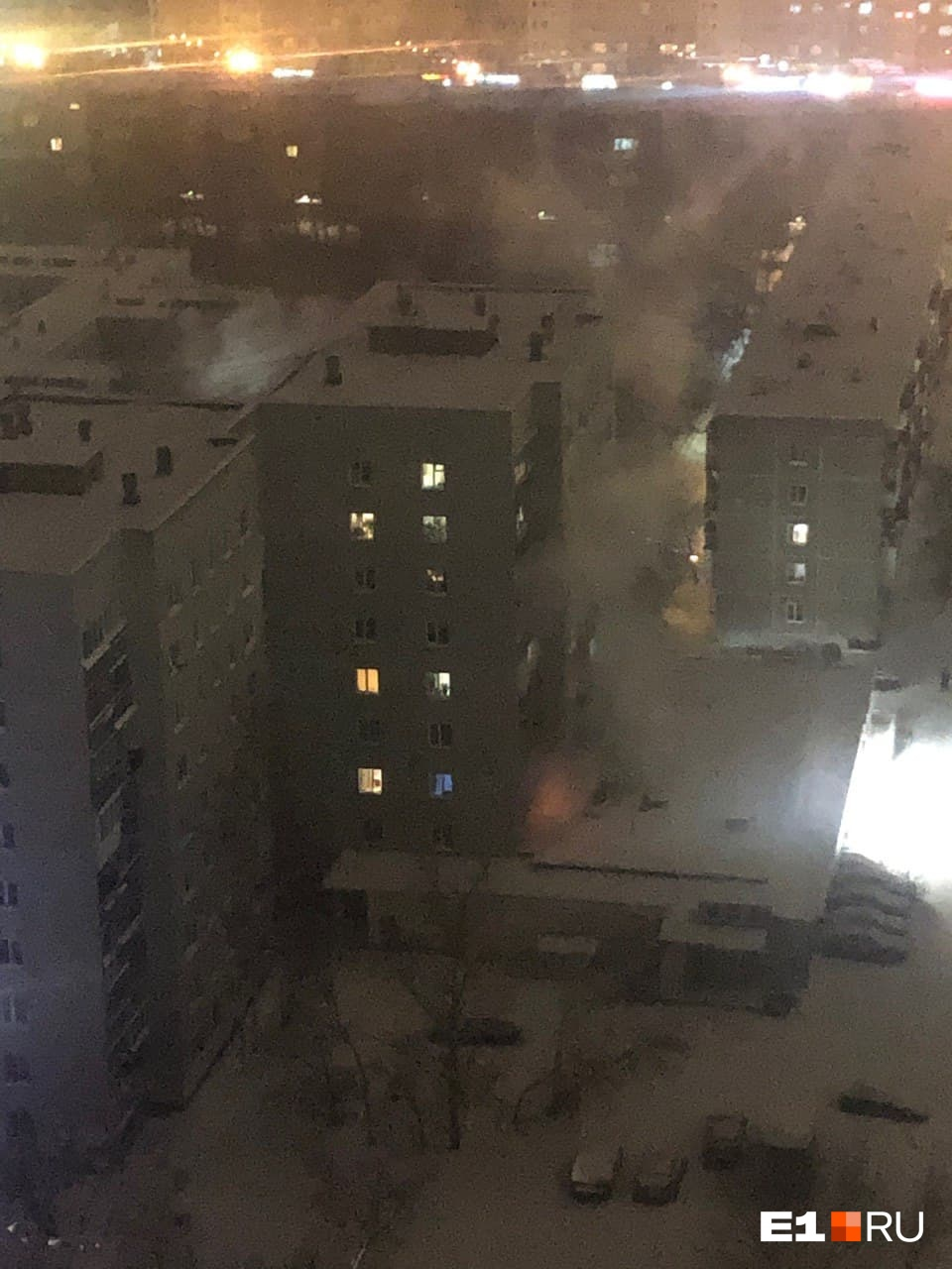 Пожар произошел на втором этаже
