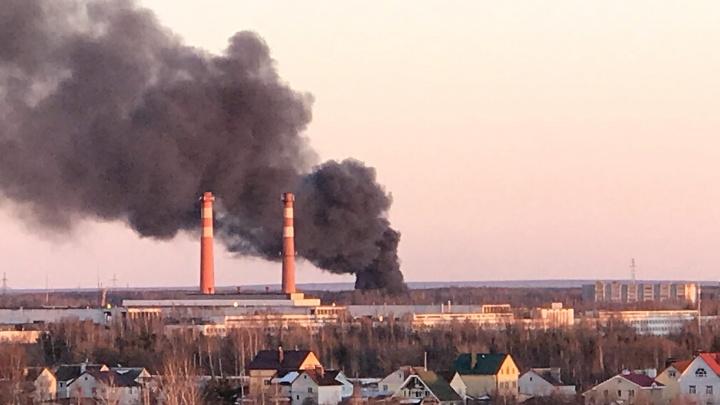 В Ярославле за Волгой случился крупный пожар: что горит
