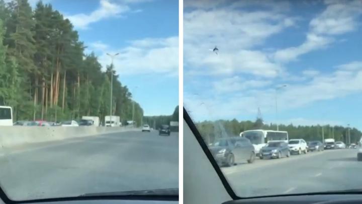 Утренний коллапс: на въезде в Пермь образовались большие пробки