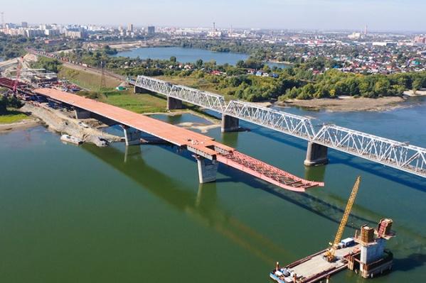 Длина надвижки пролётного строения моста увеличилась на 45 погонных метров