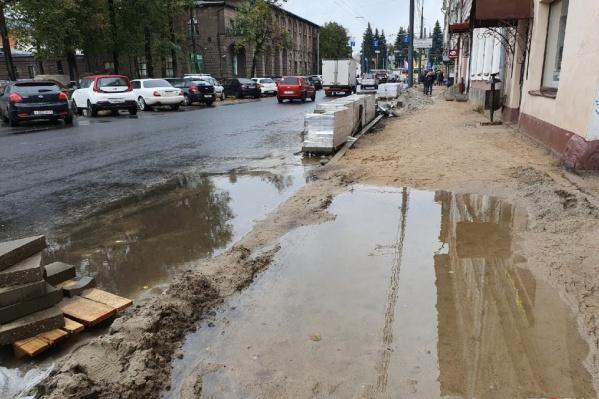 Сейчас Комсомольская улица выглядит так
