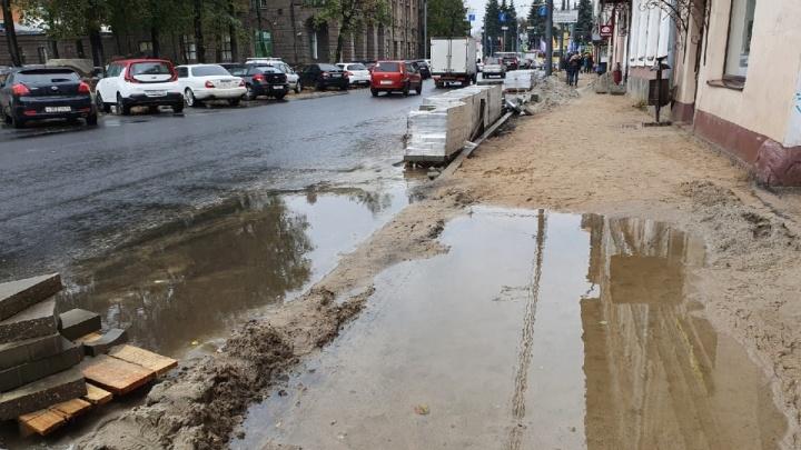 В Ярославле не станут наказывать подрядчика, затянувшего ремонт Комсомольской улицы