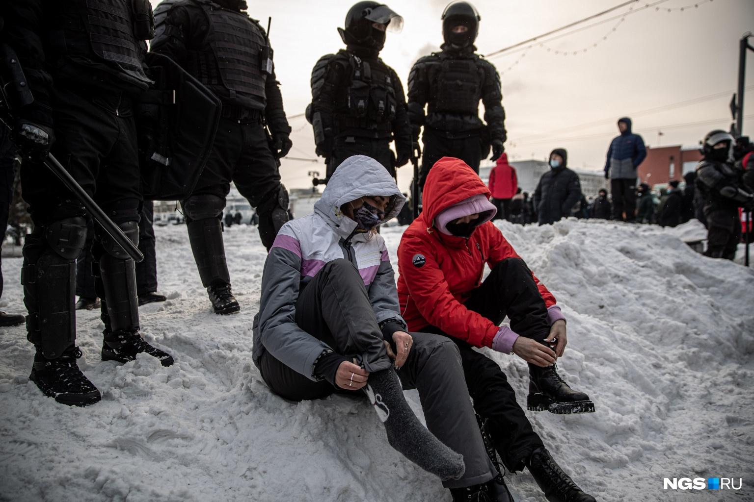 Последний раз в Новосибирске были массовые задержания на акции протеста в 2018 году