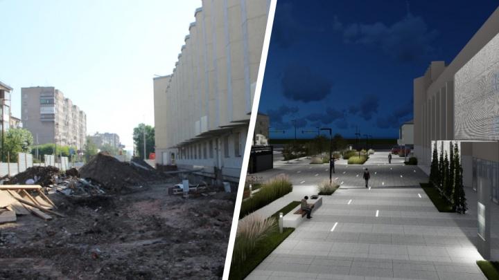В Красноярске опубликовали эскизы преображения площади перед Музыкальным театром за 200 миллионов