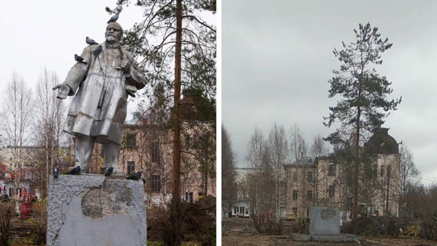Из сквера в Соломбале убрали памятник Ленину: вернут ли его