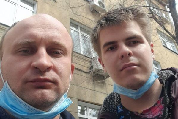 Роман Коршиков, Кирилл Саенко (слева направо)