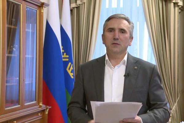 Губернатор записал обращение после прямой линии с Владимиром Путиным