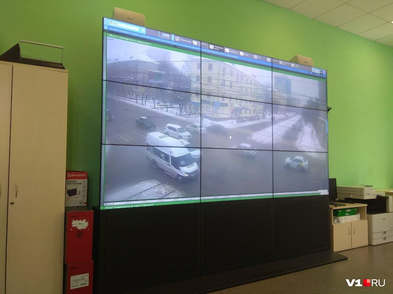 На этот экран можно вывести почти каждую уличную камеру в регионе