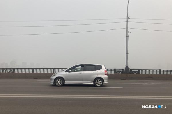 Из-за смога в городе плохая видимость