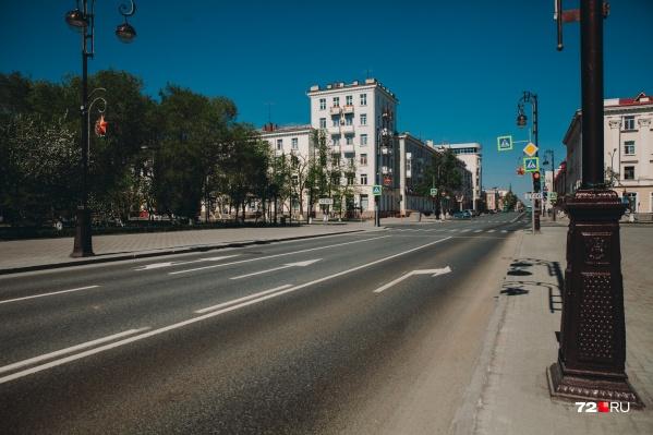 Так в прошлом году выглядела улица Ленина 9 мая