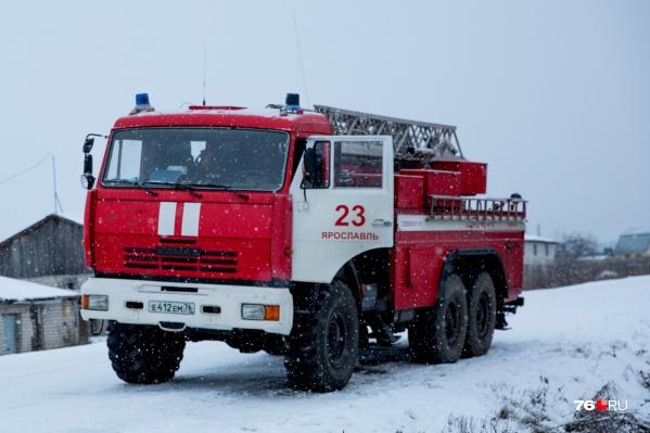 В Рыбинске произошел крупный пожар