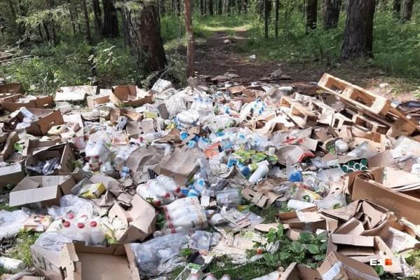 Любители лесных прогулок обнаружили эту свалку в окрестностях Шувакиша