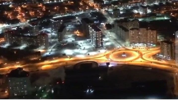 Пока вы спали: ночной Ханты-Мансийск сняли с воздуха. Полюбуйтесь