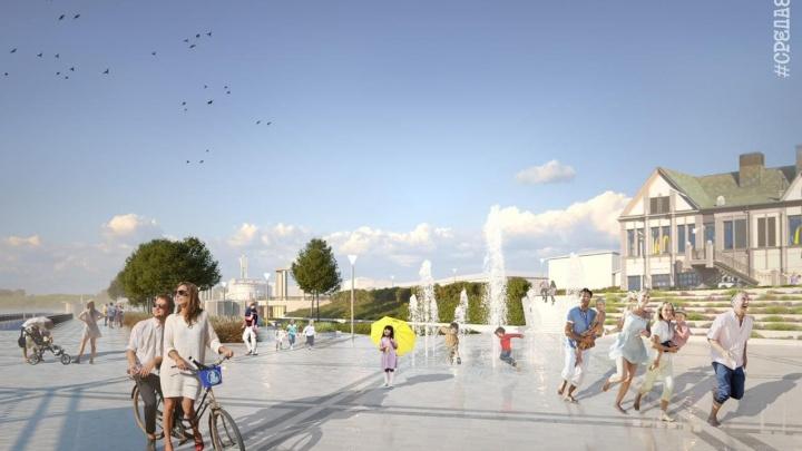 На Нижневолжской набережной возведут амфитеатр, спортплощадки и светомузыкальный фонтан