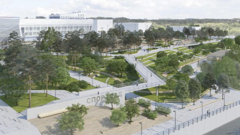 Омские архитекторы предложили превратить набережную у хоккейной академии «Авангард» в спортсад