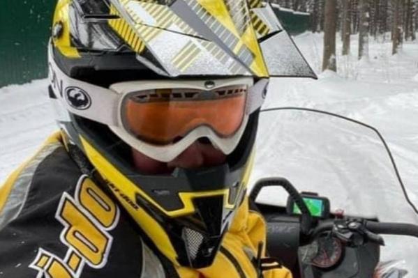 Алексей Орлов выложил фото на снегоходе
