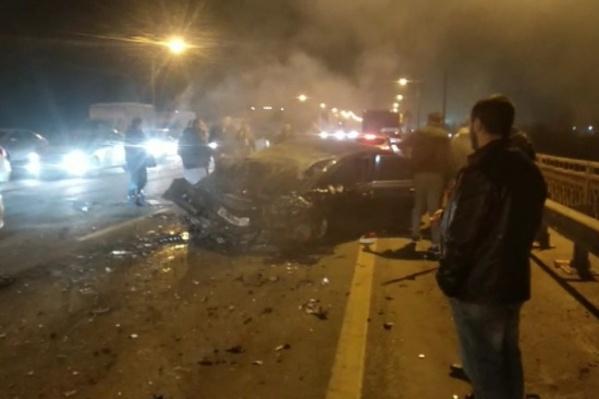 Авария случилась около полуночи